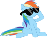 Dash says Deal With It. by kaizerin