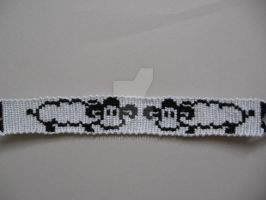 sheep friendship bracelet by koraline