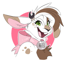 COMMISSION: hazel badge by Nekoshiba