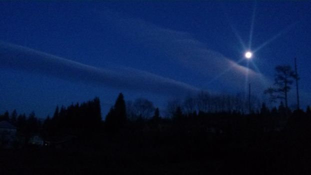 Moonlight over my house by Cassi4you