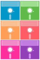 Floppy Disk Pattern by powerpuffjazz