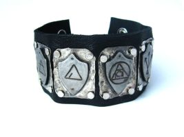Dresden Files Silver Tone Shield Cuff by Peaceofshine
