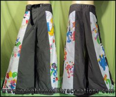 Sesame Street Raver Pants by RedheadThePirate
