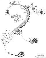 #7 Zendoodle Drawing by Aizenfree
