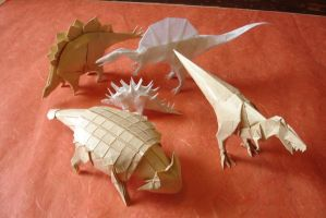 Origami Dinosaurs by origami-artist-galen