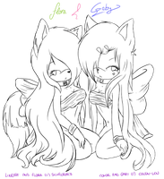 .collab. Flora and Gaby Sexys :3 by SilvFlora97