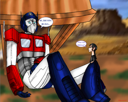 Optimus needs a vacation. by skyrore1999