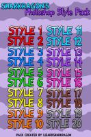 Sharkragon's Photoshop Style Pack by TheSharkGuy