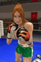 Caitlin's Fiery Fists by Tetsuo72