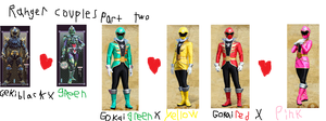 Ranger couples part two by goldranger91