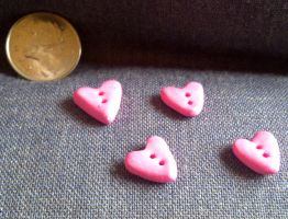 Heart Buttons by Faery-Essences