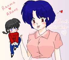 Thankss - Ranma and Akane by AngieSan