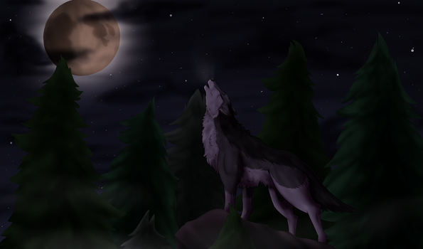 Wolf Howling by Fasty1817