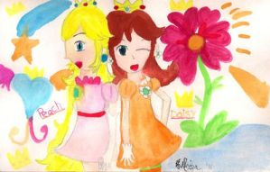 Young Peach and Daisy by Fulie