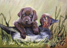 ACEO First Hunt by annieoakley64