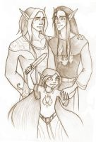 Family Blood Elves by Tintariel