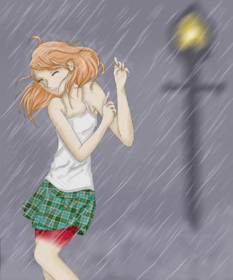 Mermaid In the Rain by thesketchyone