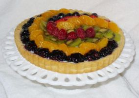 Fresh Fruit Tart by laurelbakescakes
