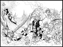 Rubus Steam Engines of Oz - inks by JeffGraham-Art