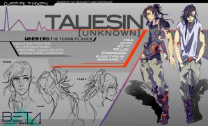 BETA:: Taliesin Character Profile by renkaz