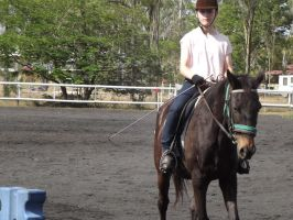 3rd Horse Riding Lesson by Seraphiima-Stables