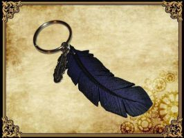 Plume porte cle by Damiane