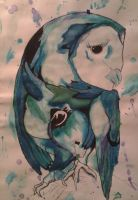 Water Color Owl by LuceyDragoneel