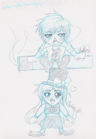 Chibi Requests: Takusu and Iris by CloudKiller7