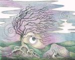 Hares by pale moon's light  by Spiralpathdesigns