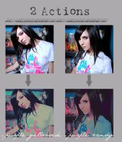 2 Pink-Purple actions by vanillaskyes