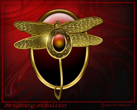 Dragonfly Medallion by PeterPawn