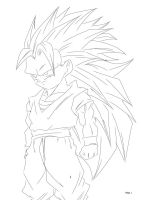 SSJ3 Gotan by darkhawk5