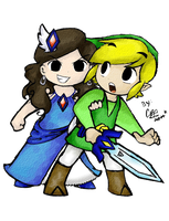 Link and the The Enigmatic Princess by ChristalLovePkmn