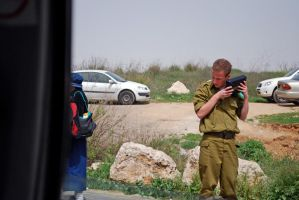 Radio soldier, Israel by dpt56