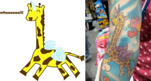 girafficorn tattoo by ilovegravy