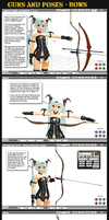 MMD Guns+Poses - Bows by Trackdancer