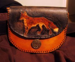 Fox Leather Belt Pouch by forgottenones