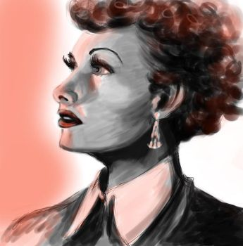 Lucille Ball speed painting by weezajin