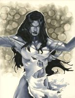 She-Hulk Sketch by RichardCox