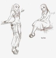 boceto Winry y Rose by Isis-90