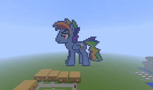 Minecraft MLP pixel art 'Rainbow Blitz' by sharpster25