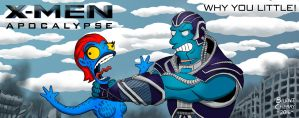 X-Men: Apocalypse Billboard Simpsonized by brentcherry