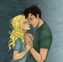 Percy and Annabeth-color only by MalloryMakesStuff