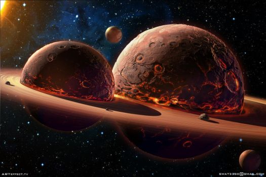 Twins Planets  by Sviatoslav-SciFi