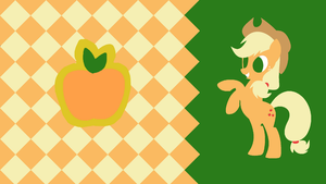 Applejack's Honesty Minimalist Wallpaper by Narflarg