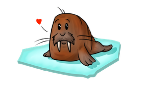 Kiriban prize for Elviktim - Walrus chibi x3 by Afna2ooo
