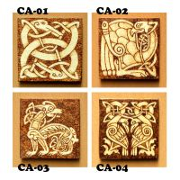 Celtic Animals wooden fridge magnets choose one by YANKA-arts-n-crafts
