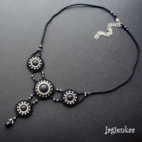 Black Sun necklace by jagienkaa