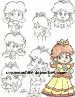 Princess Daisy Doodles by cmsimeon589