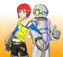 ArtinBot and Lin (shading and highlights) by ArtinScott